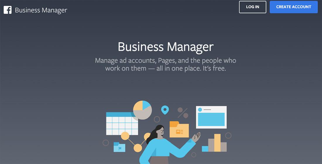 Facebook Business Manager Start Screen